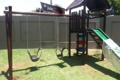 Jungle gym with swings